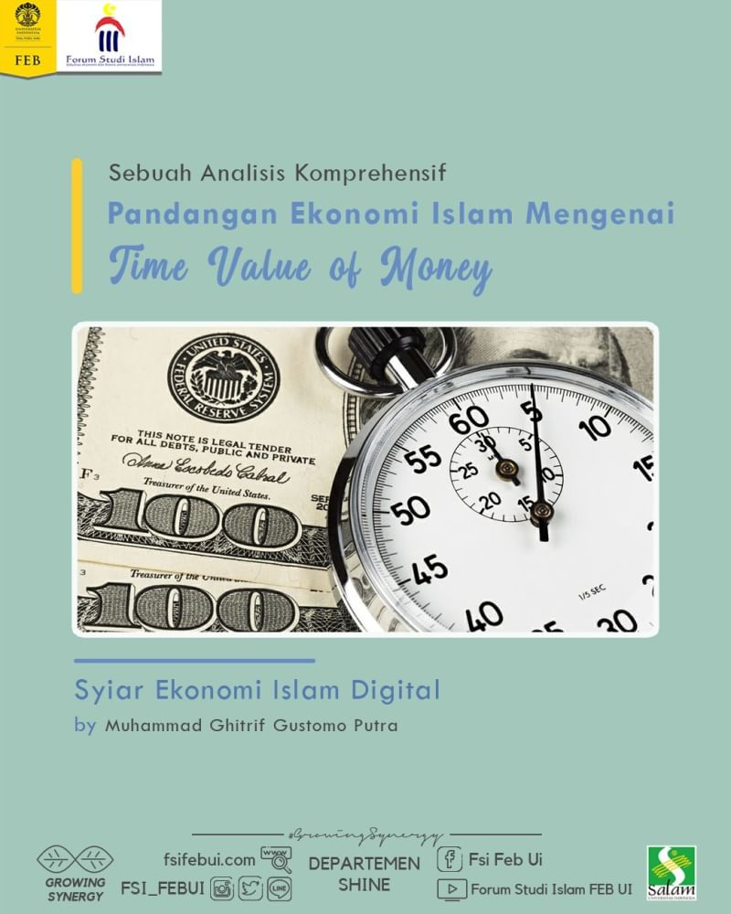 Pandangan Ekonomi Islam mengenai Time Value of Money: Sebuah Analisis Komprehensif